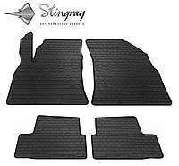 Резиновые коврики Stingray Стингрей Опель Астра К 2015- Комплект из 4-х ковриков Черный в салон. Доставка по всей Украине. Оплата при получении