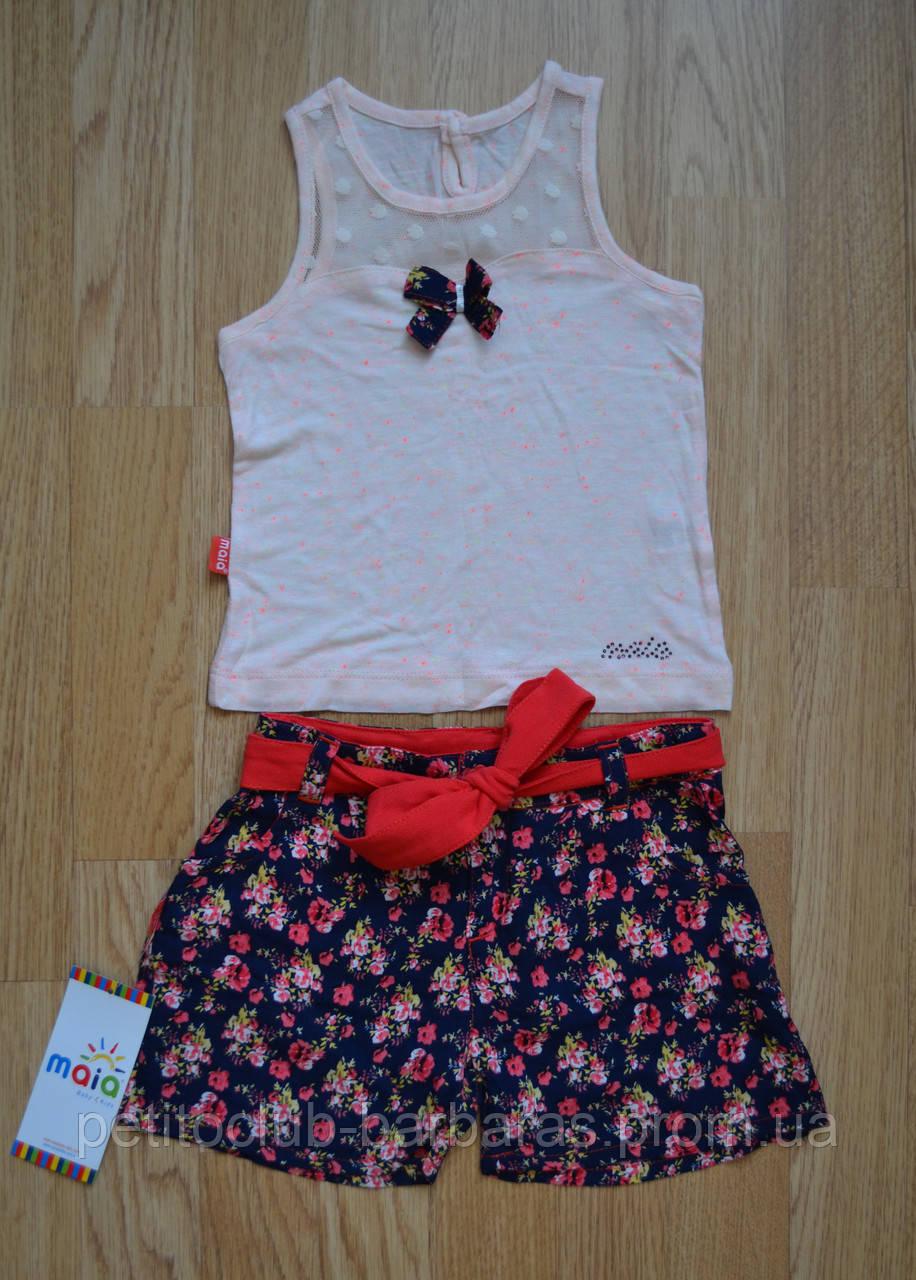Дитячий літній комплект (майка+шорти) для дівчинки, р. 92-98 (Maia, Туреччина)