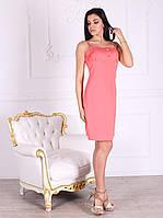 Платье домашнее, сорочка 446 кораллового цвета