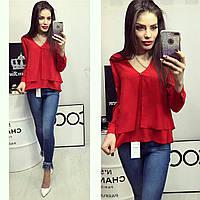 Блузка женская, модель 777, красный, фото 1
