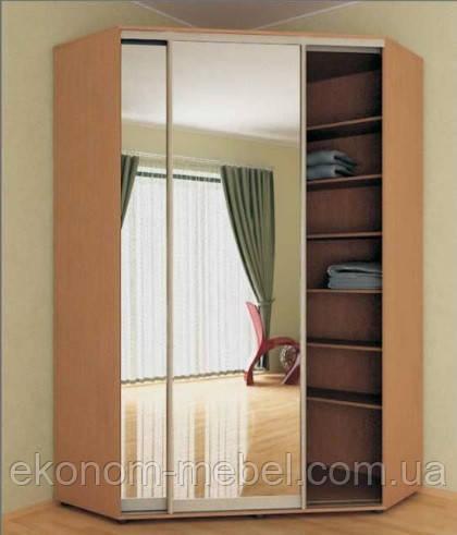 Угловой шкаф купе 2х-дверный 1500 х 1500 мм высота 2100мм в коридор. Одесса