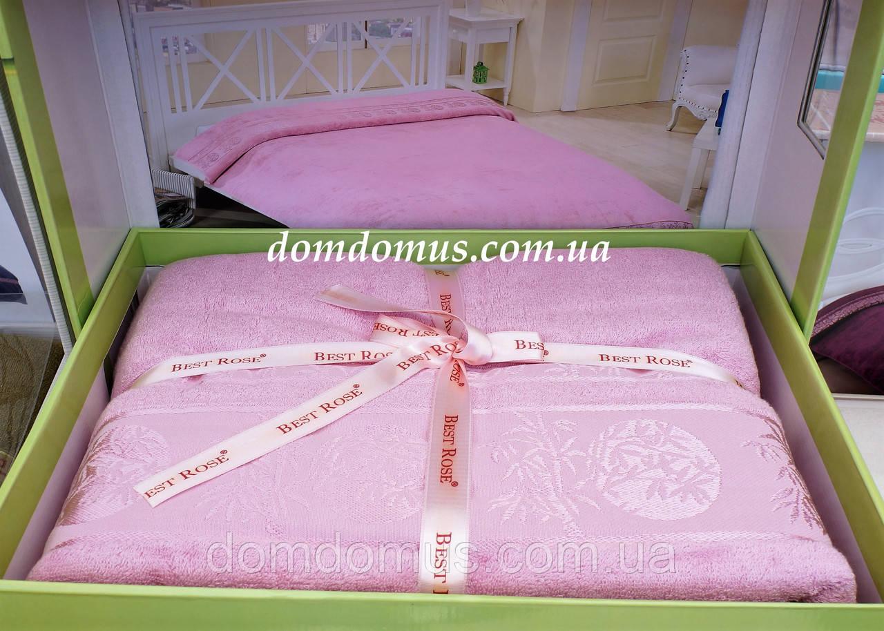 0510539b4d24 Махровая простынь Best Rose Bamboo 200*220, розовая - Интернет-магазин