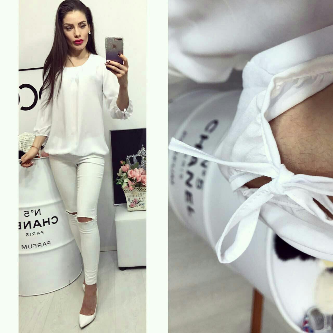 Блузка женская, модель 776, белый, фото 1