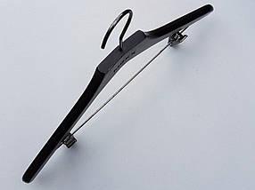Плечики вешалки тремпеля комиссионые  Mainetti Mexx костюмный черно-коричневого цвета, длина 42 см, фото 2