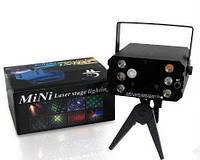 Лазерный проектор YX-036, стробоскоп, лазер шоу дискотека