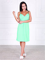 Платье домашнее, сорочка 447 ментолового цвета