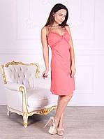 Платье домашнее, сорочка 447 кораллового цвета