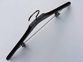 Плечики вешалки тремпеля  комиссионные  Mainetti Mexx костюмный черно-коричневого цвета, длина 46 см, фото 2