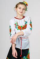 Детская вышиванка для девочки Калина , рост 128-152