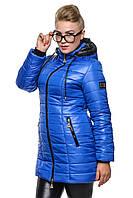 Длинная стеганая зимняя куртка 13 расцветок, р-ры 40-54
