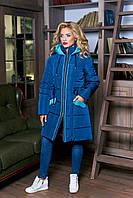 Стильное женское зимнее пальто-куртка ( 3 цвета )