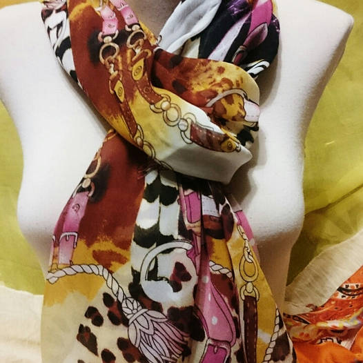 Шарф шёлковый леопард