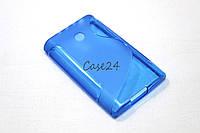 Чехол накладка бампер для LG E400 Optimus L3 синий, фото 1