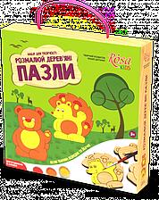 """Набор, пазлы деревянные """"Лесные животные"""", ROSA KIDS, 0001902"""