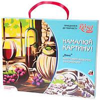 """Набор, акриловая живопись по номерам """"Вино"""", ROSA START, 0001320"""