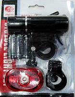 Фара монокристаллическая и мигалка задняя, модель 245 + 007