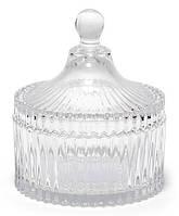 Сахарница стеклянная Bona Glass Ø10.5х12см со стеклянной крышкой