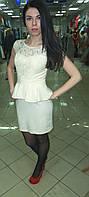 Платье из гипюра,с баской, с открытой спиной, вечерние платья для полных девушек интернет магазин