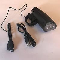 Фара с зарядкой под USB с сигналом и разными мелодиями, модель FY-058(22)