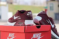 Кроссовки Nike Air Max 90 Hyperfuse, бордовые