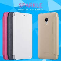 Кожаный чехол (книжка) Nillkin Sparkle Series для Meizu M5s