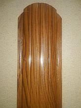 """Металевий євроштахетник """"Золотий дуб 3D 2-х сторонній"""" ширина 10,5см (товщина 0,47мм)"""