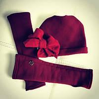 Женские перчатки-митенки (трехнить на флисе), 4 цвета