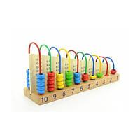 Арифметический счет - счеты деревянные с таблицей умножения