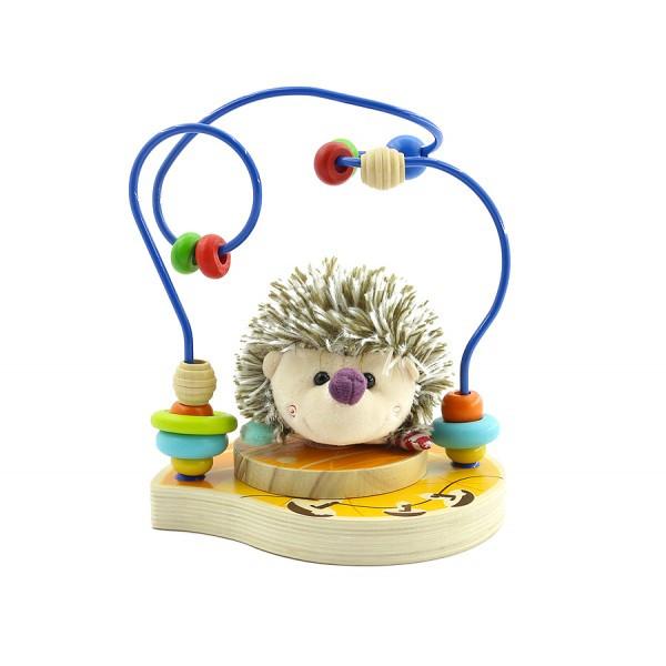 Деревянный лабиринт с мягкой игрушкой 5 видов