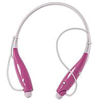 Универсальная bluetooth-гарнитура LG HBS 730 розовая для телефона мультимедийная блютуз 4.1 беспроводная