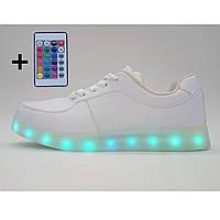 Женские кроссовки детские кроссовки Светящиеся кроссовки Led низкие с пультом