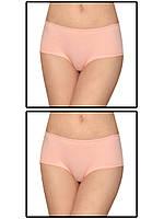 Набор женских трусов мини шорт - 2 шт. (Персиковый)