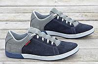 Спортивные туфли, кроссовки натуральная кожа, нубук мужские весна лето 2017. Со скидкой