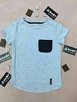 Качественная детская футболка серого цвета, от производителя. Размер: 116-146