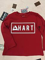 Модная детская укороченная кофта красного цвета, с надписью HART