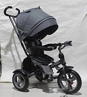 Детский трехколесный велосипед CROSSER T-503 ECO с фарой, серый