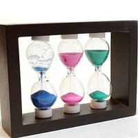 Оригинальный сувенир Декоративные песочные часы тройные