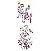 Трафарет многоразовый 10х24 см Цветы