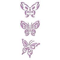 Трафарет 11х33 см Три метелики
