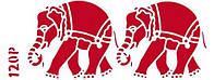 Трафарет декоративний 11х33 см Індійські слони