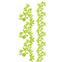 Трафарет 11х33 см Рослинні бордюри