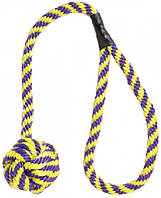 3599 Trixie Мяч плетеный на веревке, 5,5/55 см