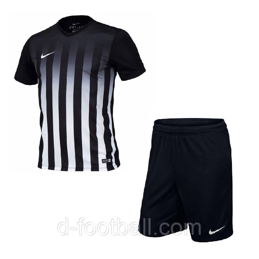 Футбольная форма для команд Nike Striped Division II черная купить ... c8da7a9ce8e