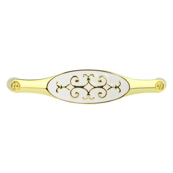 Ручка Ferro Fiori D 4111.128 золото полированное | белая эмаль