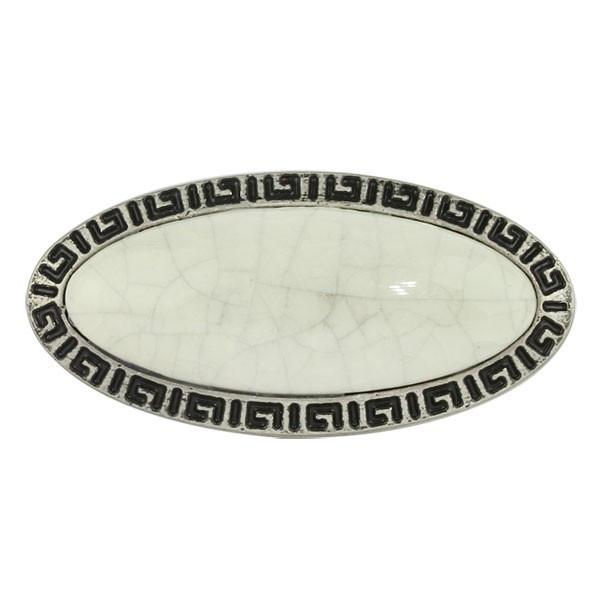 Ручка Ferro Fiori D 4120.01 античное серебро   сrackle