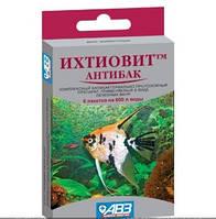 Препарат для лечения и профилактики бактериальных болезней рыб Ихтиовит Антибак, 6 п по 2,5 г