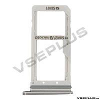 Держатель SIM карты Samsung G930FD Galaxy S7 Duos, белый