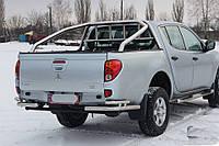 Защита заднего бампера углы Mitsubishi L200 Long 2013+, фото 1