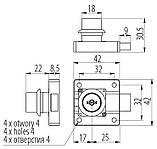 Замок квадратный  GTV 138 + цифровой ключ, фото 2