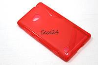 Чехол накладка для Nokia Lumia 720 красный